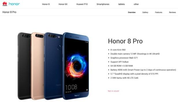 Resultado de imagem para Honor 8 Pro detalhes